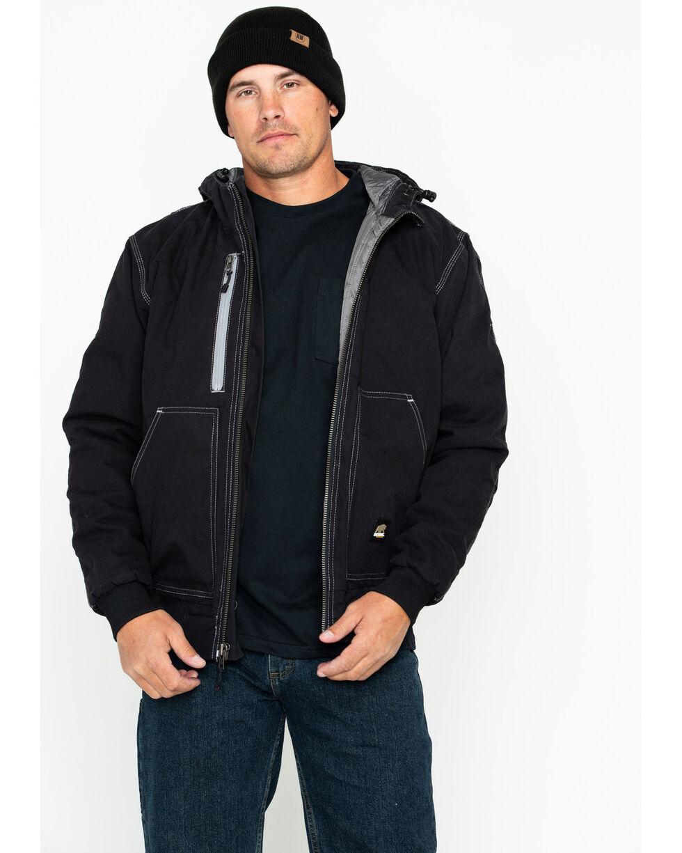 Berne Men's Solid Modern Hooded Work Jacket - Big , Black, hi-res