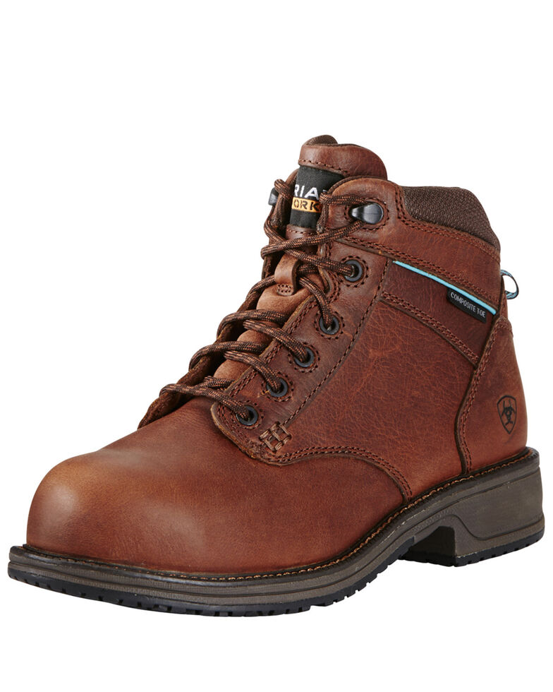 Ariat Women's Composite Toe Work Boots, Brown, hi-res