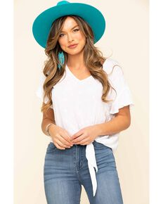 Ariat Women's Crossroads Top, White, hi-res