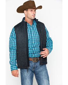 Cody James Men's Coal Miner Sweater Vest, Black, hi-res