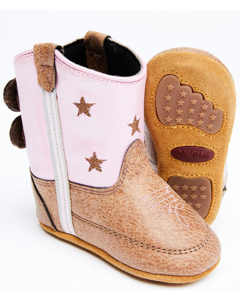 Shyanne Infant Girls' Pink Poppet Little Star Western Boots , Brown/pink, hi-res