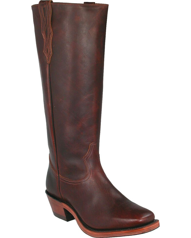 Boulet Shooter Cowboy Boots - Square Toe, Brown, hi-res