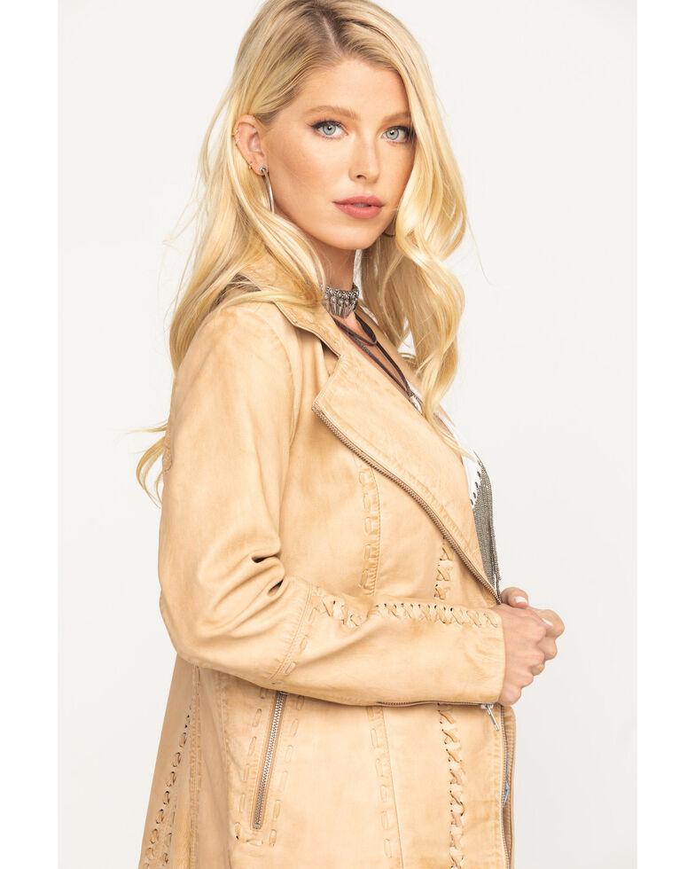 Idyllwind Women's Southern Peach Moto Leather Jacket, Tan, hi-res