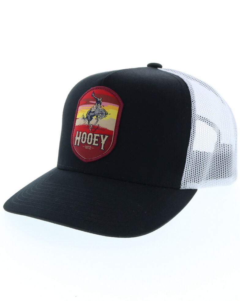 HOOey Men's Cheyenne Rodeo Patch Cap , Black, hi-res
