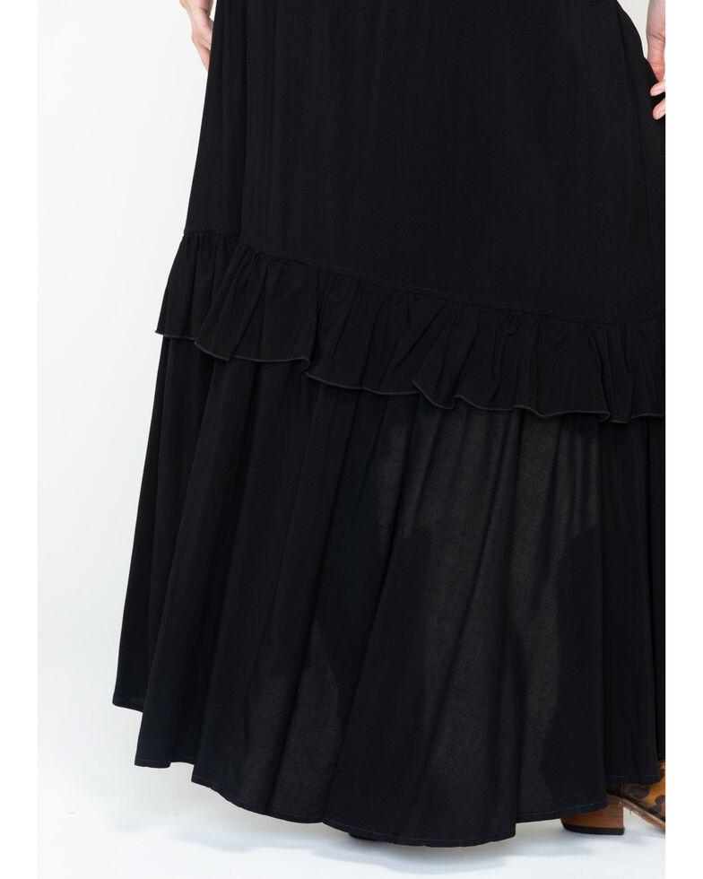 Panhandle Women's Ruffle Maxi Skirt, Black, hi-res