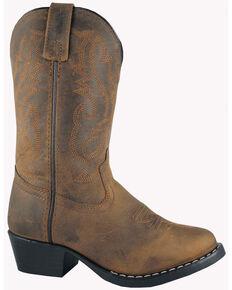 Smoky Moutain Kid's Denver Cowboy Boots, Brown, hi-res