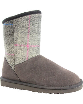 Lamo Footwear Women's Wembley Tweed Boots , Grey, hi-res