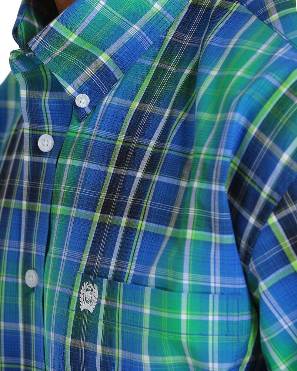 Cinch Men's Plain Weave Plaid Short Sleeve Button Down Shirt, Multi, hi-res