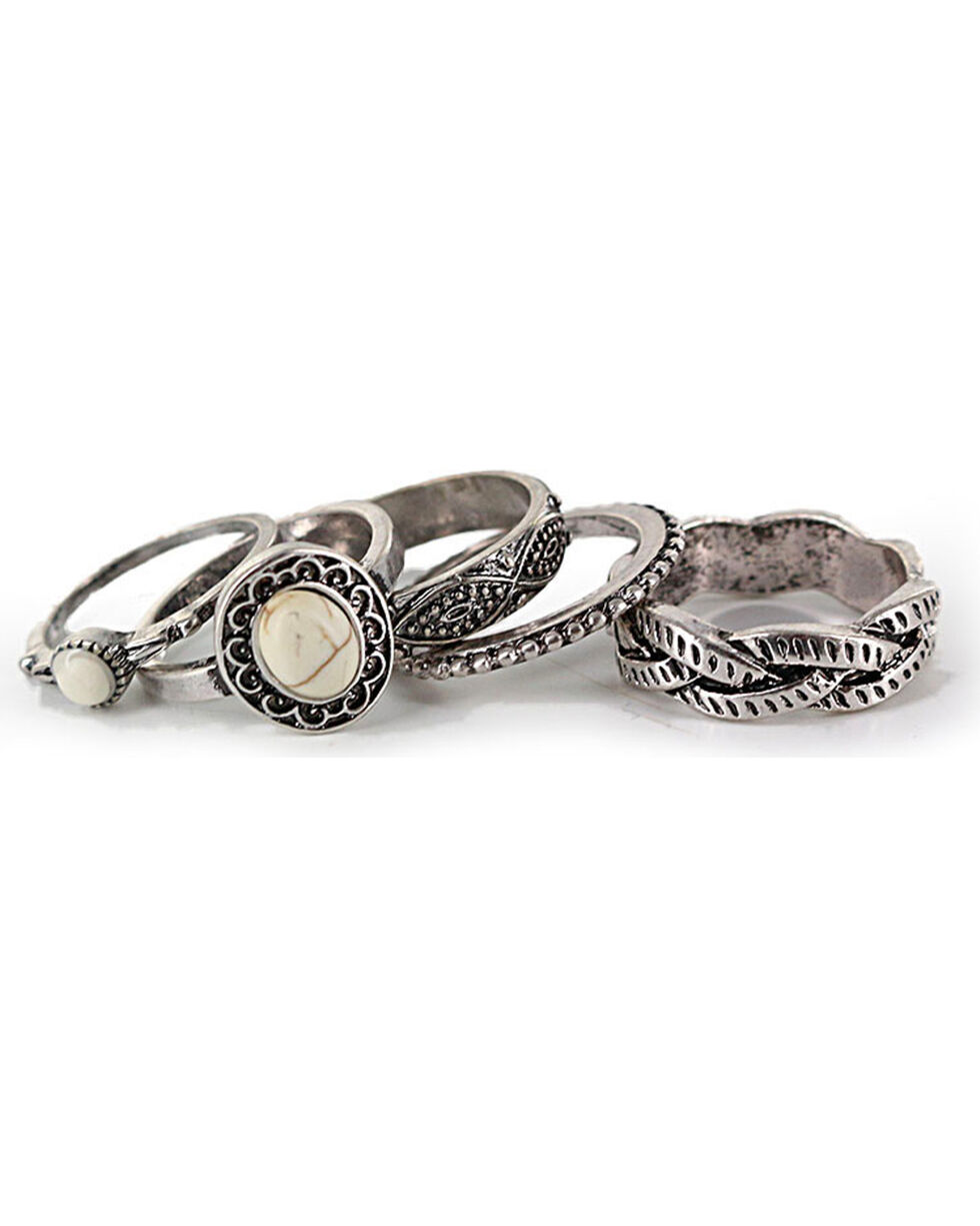 Shyanne® Women's Western Ring Set , Silver, hi-res