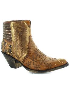 Old Gringo Women's Scarlett Fashion Booties - Snip Toe, Brown, hi-res