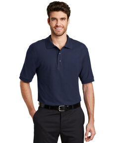 Port Authority Men's Navy Silk Touch Short Sleeve Polo Shirt - Big , Navy, hi-res
