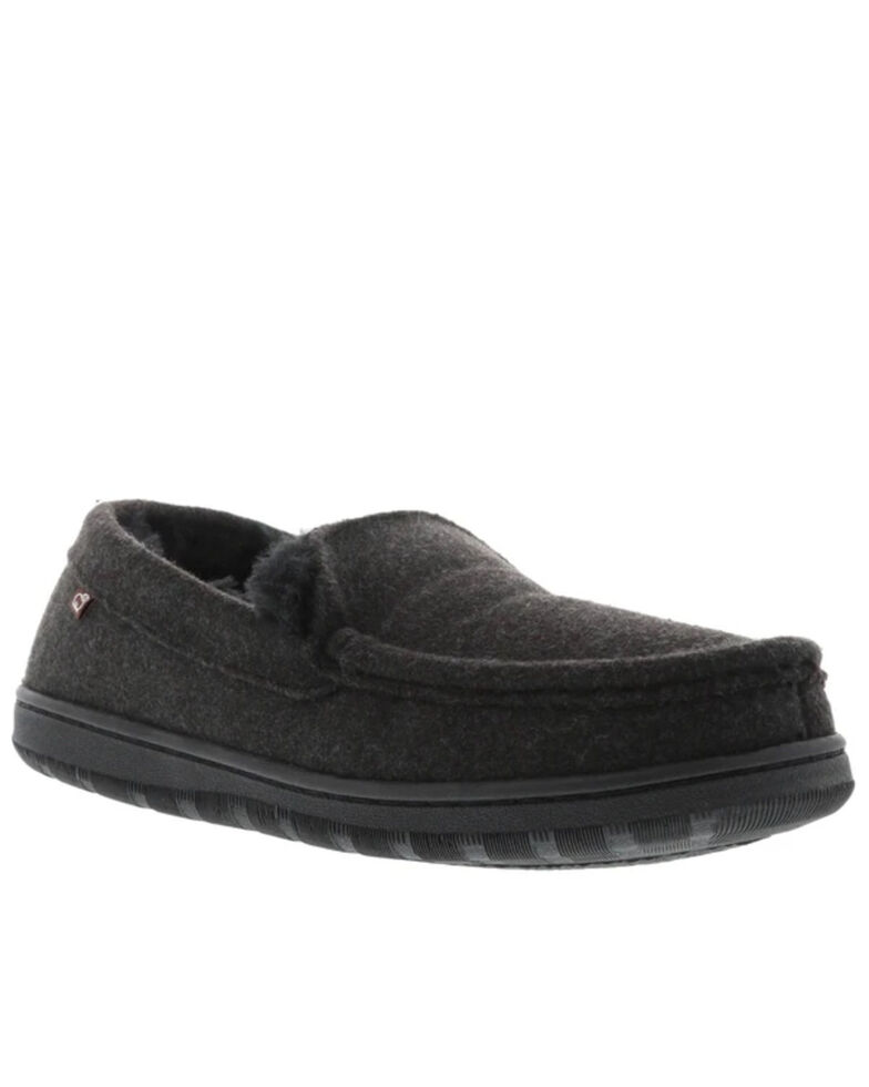 Lamo Footwear Men's Harrison Wool Slippers - Moc Toe, Charcoal, hi-res