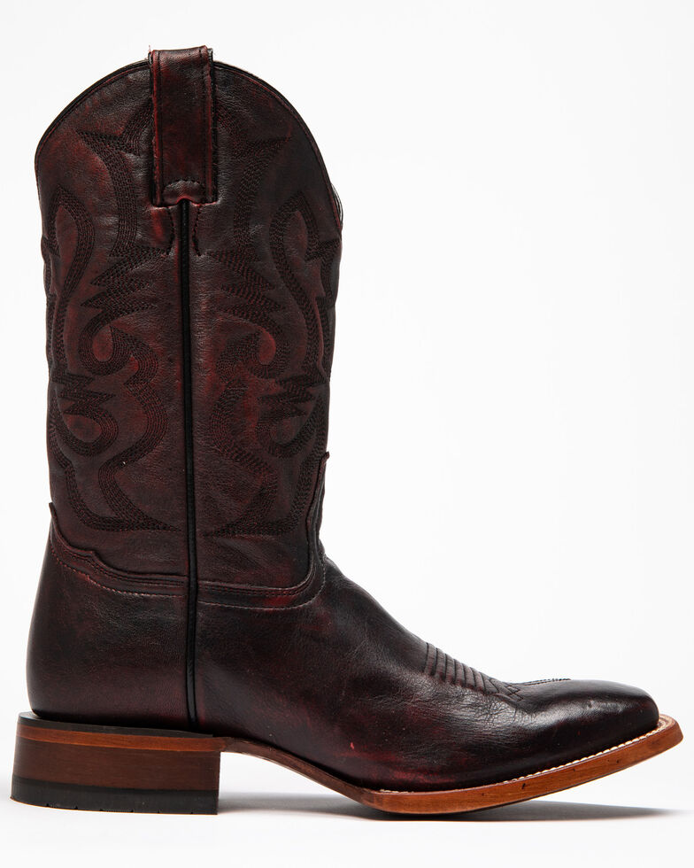 Cody James Men's Jockey Western Boots - Wide Square Toe, Black Cherry, hi-res