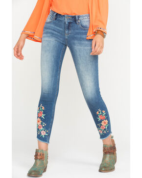 Miss Me Women's Give Crops Mid-Rise Ankle Skinny Jeans, Indigo, hi-res
