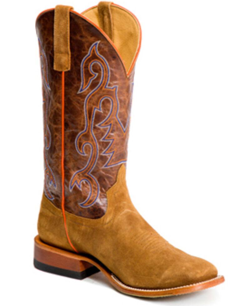 HorsePower Men's Growler Western Boots - Wide Square Toe, Tan, hi-res