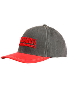 Rock & Roll Cowboy Men's Charcoal 3D Logo Cap , Red, hi-res