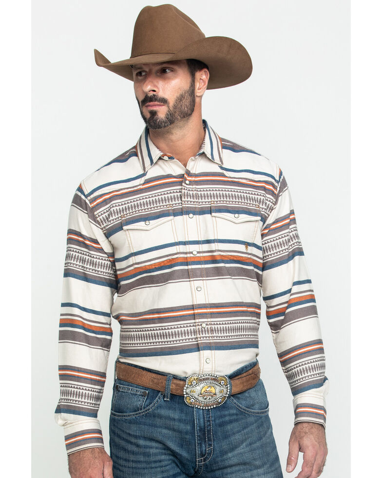 Ariat Men's Johndale Retro Striped Long Sleeve Western Shirt , Multi, hi-res