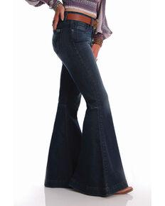 Cinch Women's Dark Wash Mid-rise Hannah Flare Jeans , Blue, hi-res