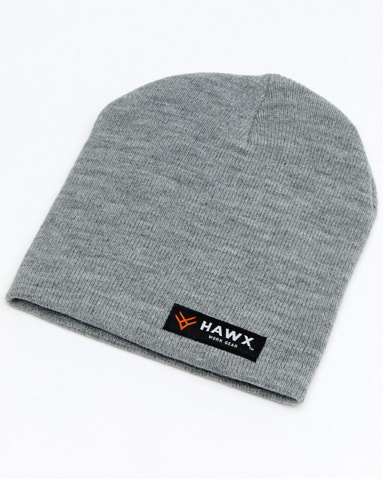 Hawx® Men's Grey Bar Logo Skull Cap , Grey, hi-res