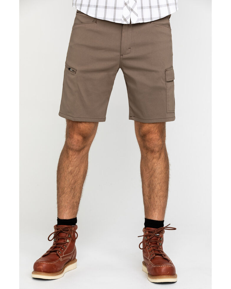 ATG By Wrangler Men's Morel Utility Asymmetric Cargo Shorts , Brown, hi-res