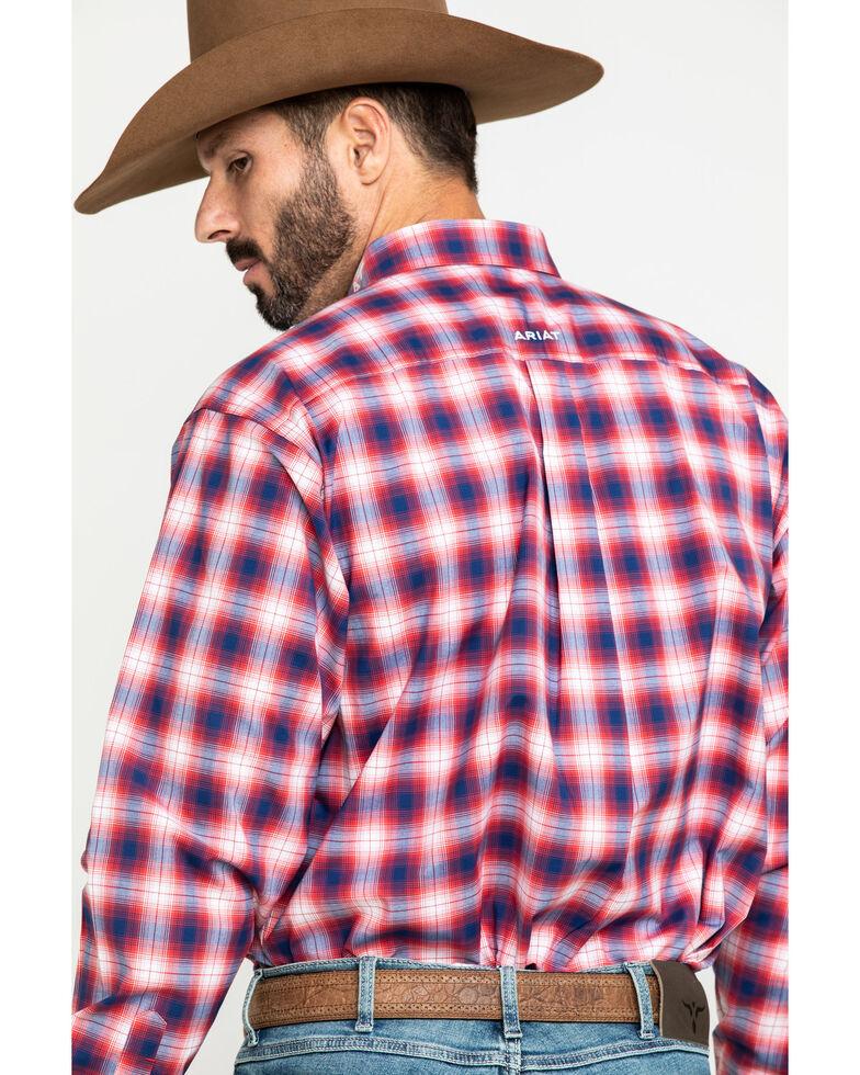 Ariat Men's Caleb Team Multi Plaid Logo Long Sleeve Western Shirt - Big , Multi, hi-res