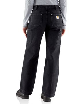 Carhartt Women's Canvas Kane Relaxed-Fit Dungaree Pants, Black, hi-res