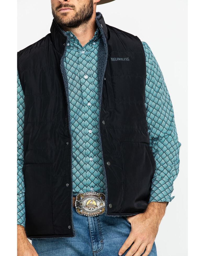 Ariat Men's Lariat Reversible Vest , Black, hi-res
