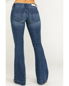 Rock & Roll Cowgirl Women's Medium Vintage Low Trousers  , Blue, hi-res