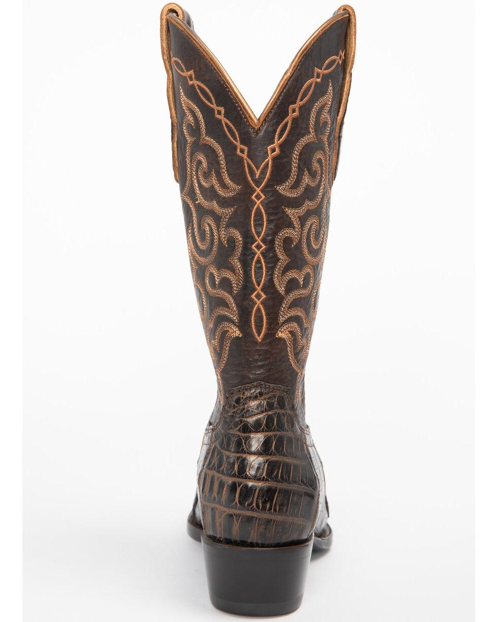 Shyanne Women's Bella Caiman Belly Western Boots - Snip Toe, Brown, hi-res