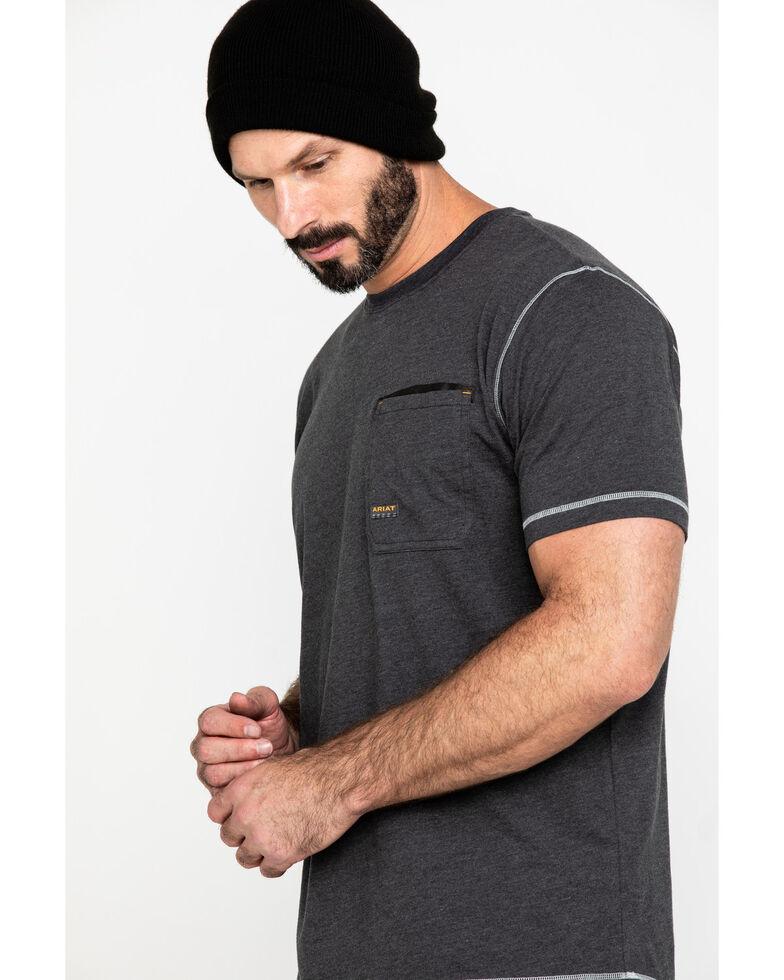 Ariat Men's Grey Rebar Workman Technician Graphic Work T-Shirt , Heather Grey, hi-res