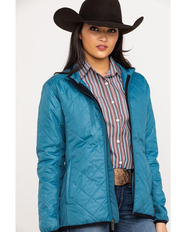 Justin Women's Teal Softshell Jacket, , hi-res