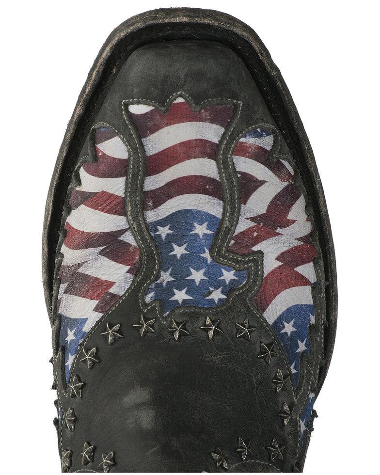 Lane Men's Old Glory Western Boots - Snip Toe, Black, hi-res