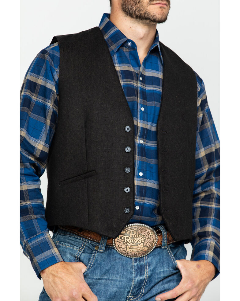 Scully RangeWear Men's Western Wool Tweed Vest , Brown, hi-res