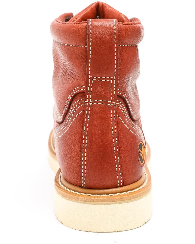 Hawx Men's Grade Moc Wedge Work Boots - Nano Composite Toe, Red, hi-res
