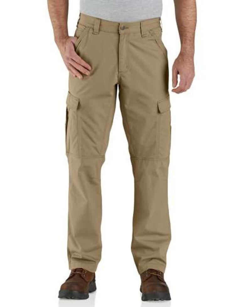 Carhartt Men's Dark Khaki M-Force Broxton Cargo Work Pants , Beige/khaki, hi-res