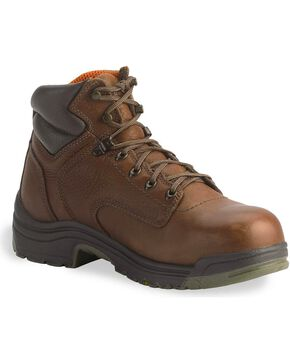 Timberland Pro Men's Titan Safety Toe Work Boots, Coffee, hi-res