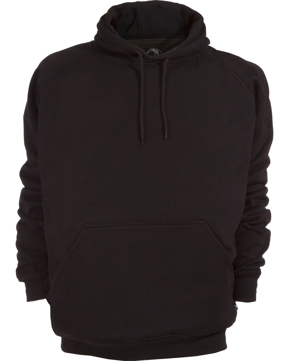 Berne Original Fleece Hooded Pullover, Black, hi-res