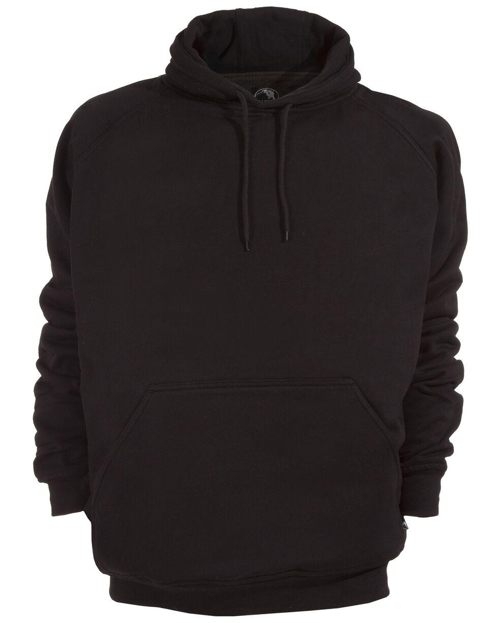 Berne Original Fleece Hooded Pullover - 5XL and 6XL, Black, hi-res