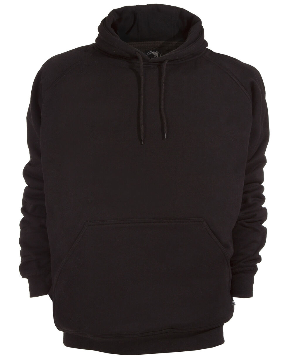 Berne Original Fleece Hooded Pullover - Tall 3XT and 4XT, Black, hi-res
