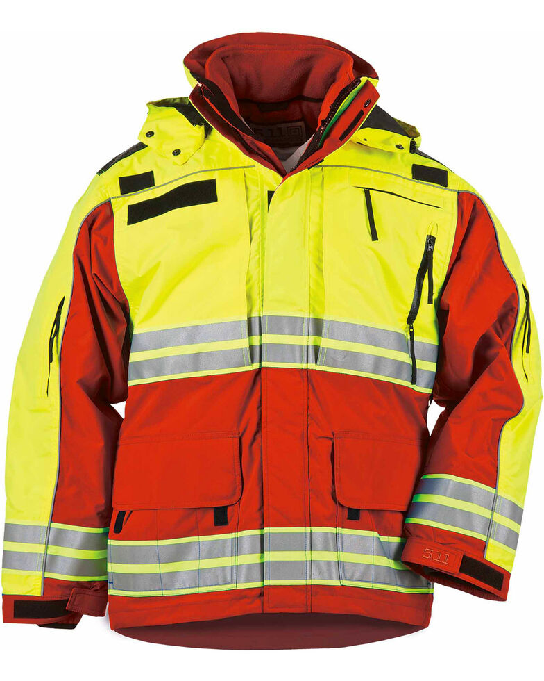 5.11 Tactical Men's Responder High-Visibility Parka - 3XL-4XL, Red, hi-res