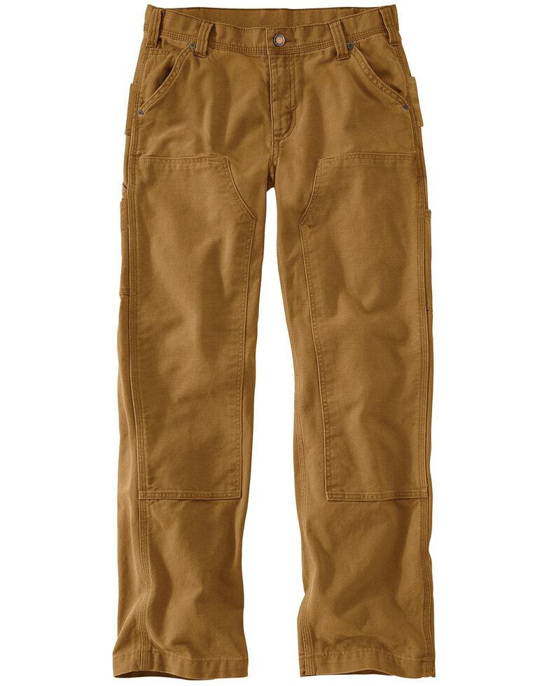 Carhartt Women's Relaxed-Fit Canvas Kane Dungaree Pants, Carhartt Brown, hi-res