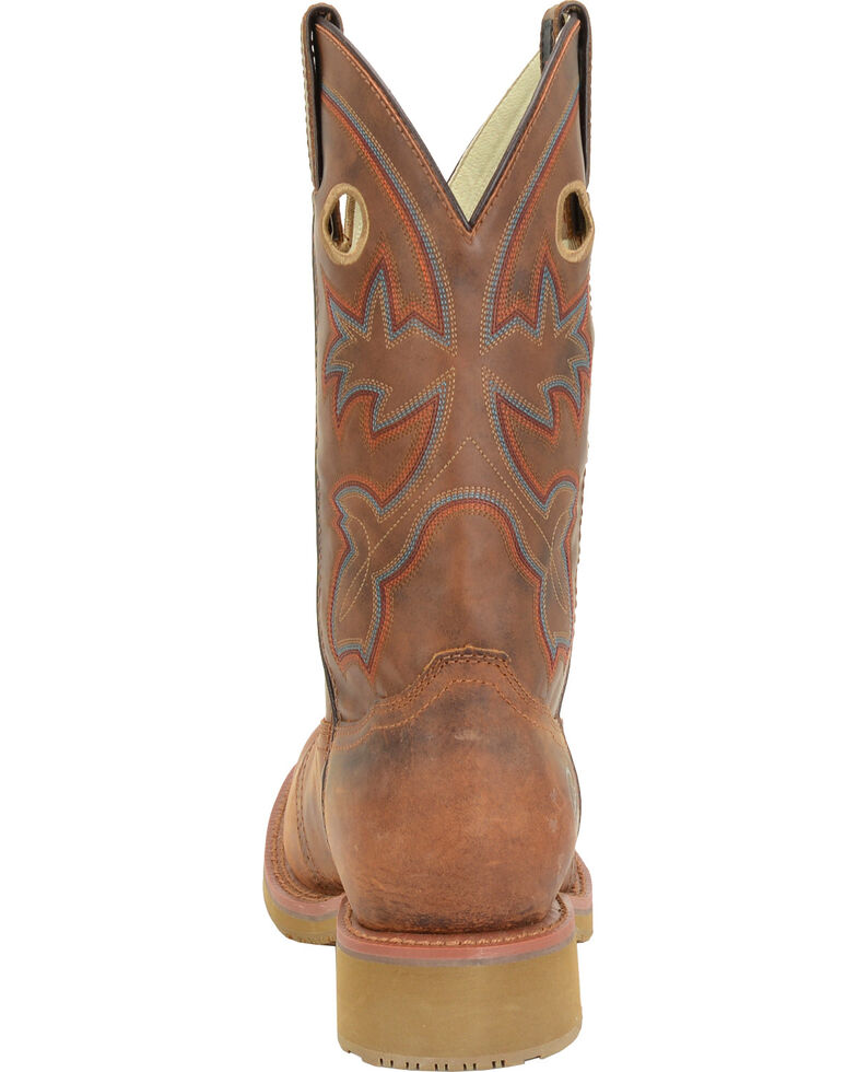"""Double H Men's 11"""" Earthquake Rust ICE Western Work Boots - Square Toe, Tan, hi-res"""