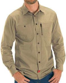 Red Kap Men's Sand MIMIX™ Woven Long Sleeve Work Shirt , Sand, hi-res