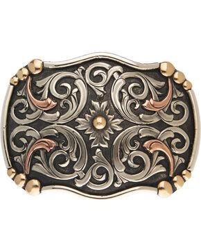AndWest Acadia Vintage Tri-Tone Belt Buckle, Silver, hi-res