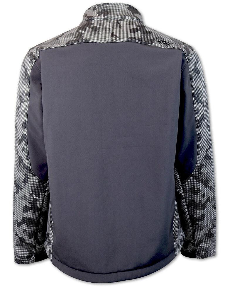 HOOey Boys' Grey Camo Color-Block Soft-Shell Jacket , Grey, hi-res