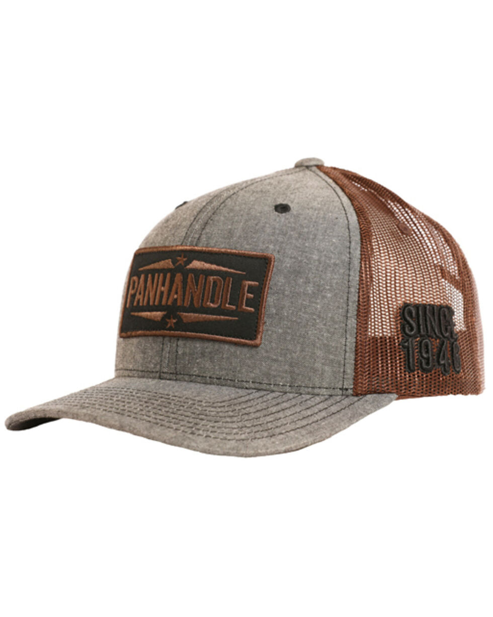 Panhandle Men's Patch Trucker Hat, Grey, hi-res
