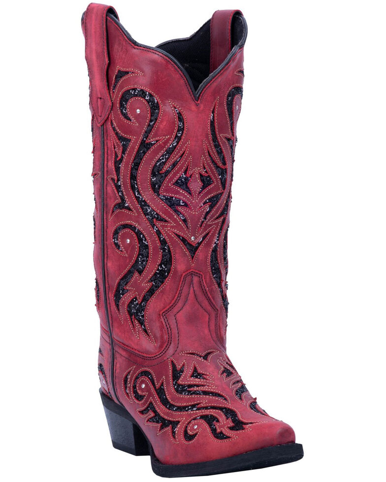 Laredo Women's Wild Thang Western Boots - Snip Toe, Red, hi-res