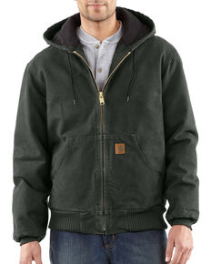 Carhartt Men's Sandstone Active Quilted Flannel Lined Jacket, Moss, hi-res