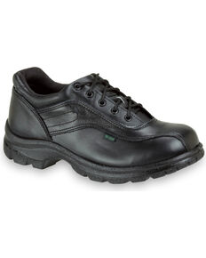 Thorogood Men's SoftStreets Double Track Postal Certified Oxfords, Black, hi-res