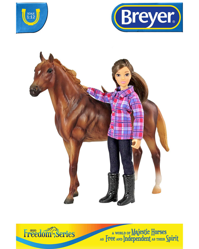Breyer Girls' Western Horse & Rider, No Color, hi-res
